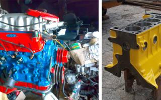 Чем покрасить двигатель?