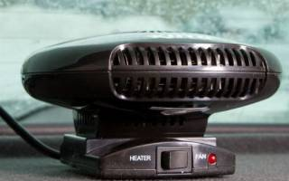 Вентилятор с обогревом в салоне автомобиля