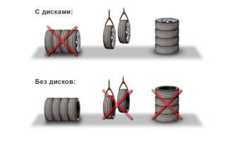 Как нельзя хранить автомобильные шины