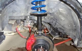 Замена амортизатора и пружины подвески