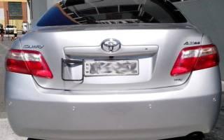 Установка датчиков парктроника на Toyota Camry V40 (50)
